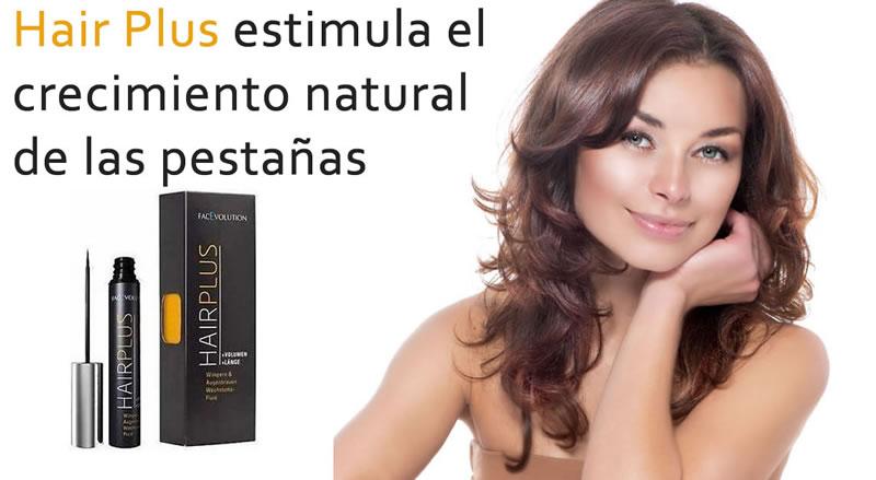 Hair Plus pestañas de FacEvolution estimula el crecimiento natural de pestañas y cejas