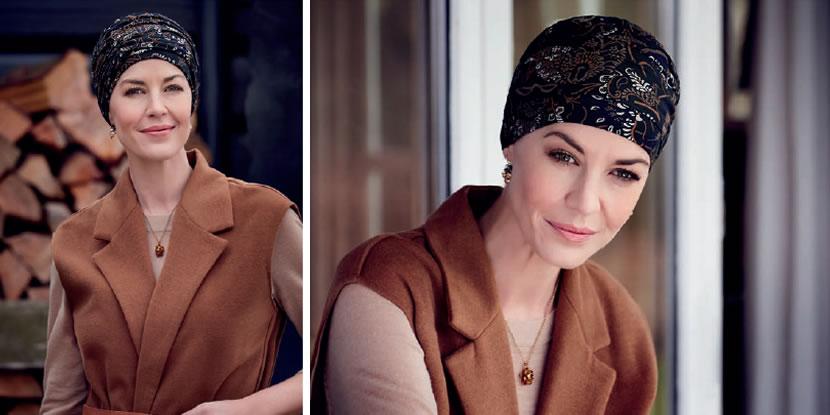 Los modelos básicos en la línea de pañuelos para mujeres en tratamiento de quimioterapia con estampados nuevos