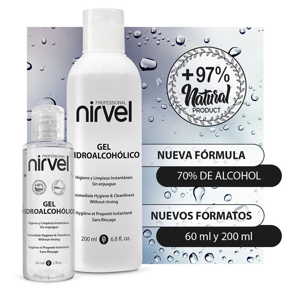 Cartel promocional del Gel Hidroalcoholico de Nirvel